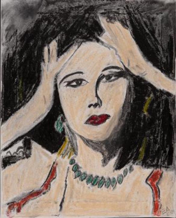 Die Frau mit der Perlenkette