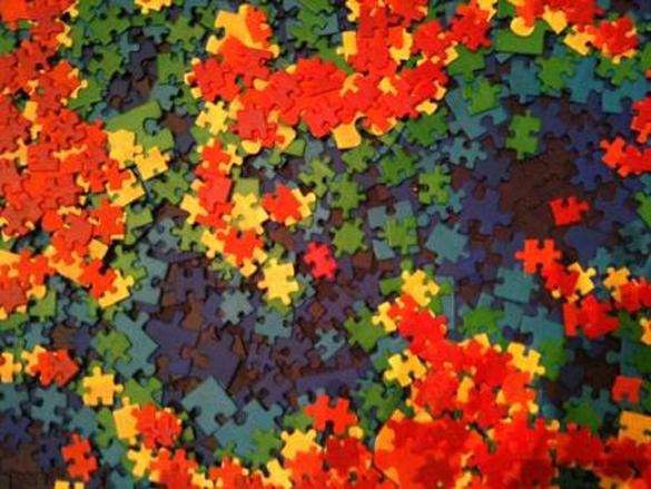 Regenbogen-Puzzle