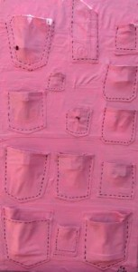 Jeanstaschen in rosa