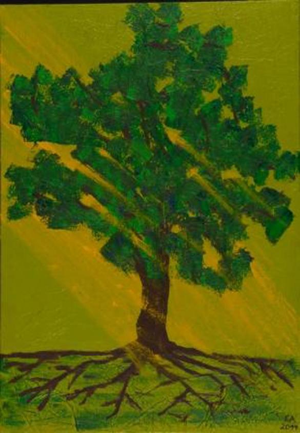 Baum-Lichtstrahlen